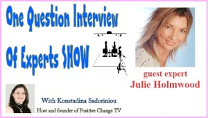 one question interview Julie Holmwood