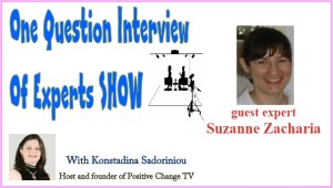 one question interview Suzanne Zacharia