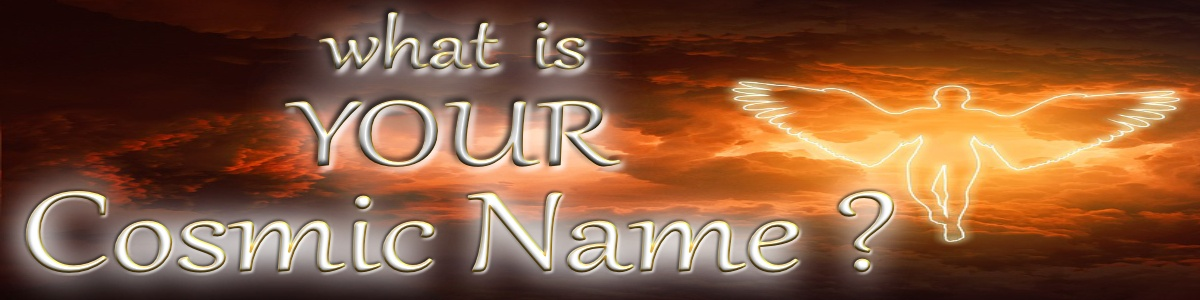 what is your cosmic name website banner