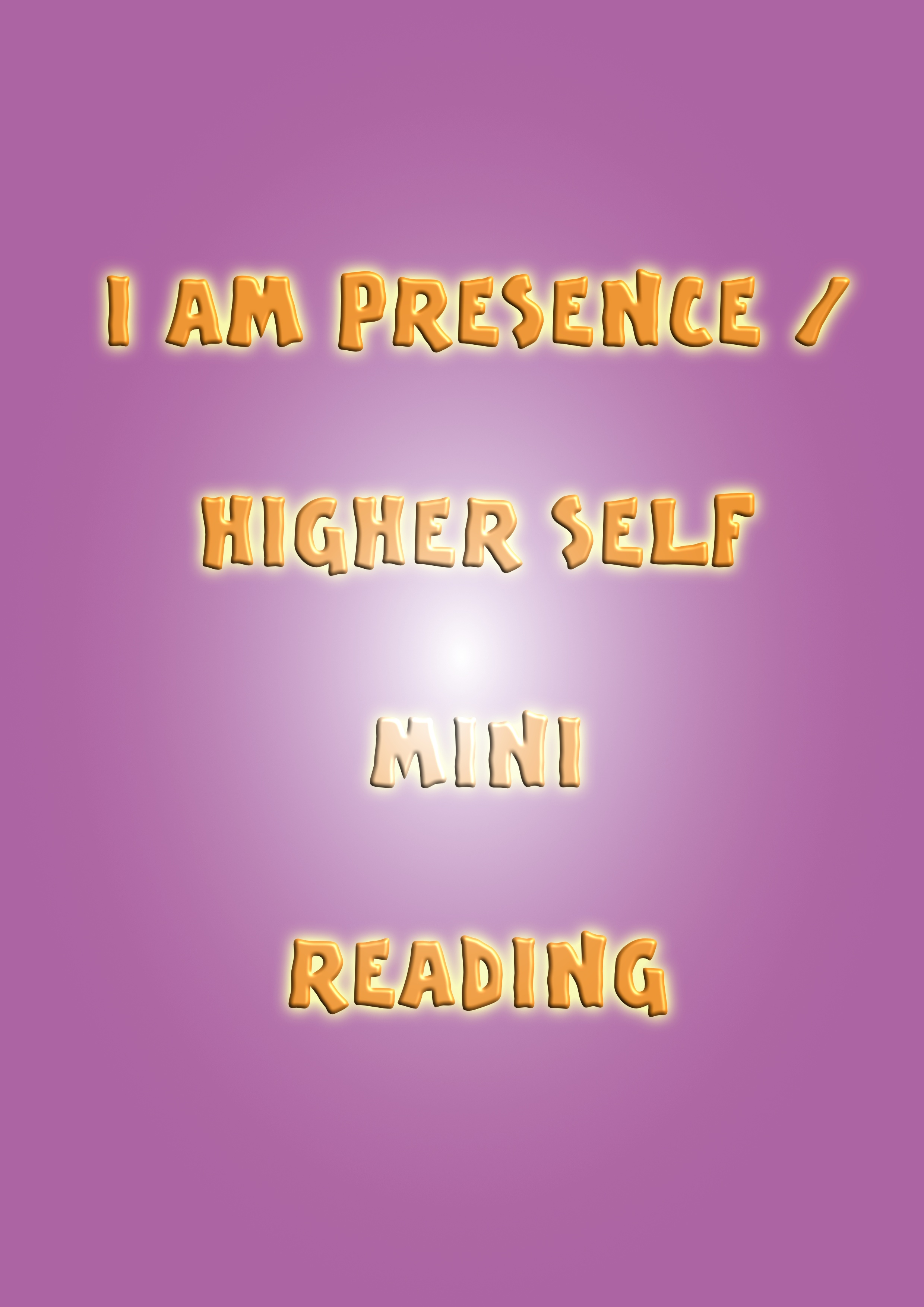 higher self mini reading